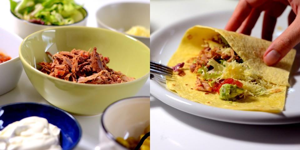 Mexikanisch gefüllte Tortillafladen