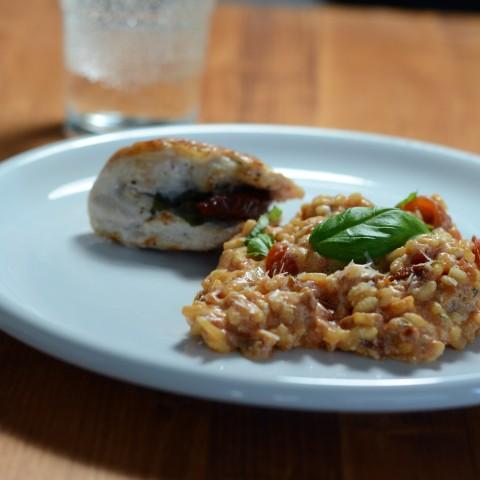 Tomatenrisotto mit Schnitzelchen_q (Small)