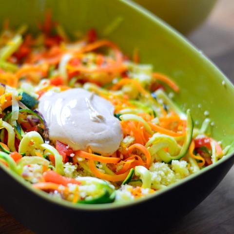 Gemüsecouscous mit Harissa-Dip  (Small)